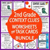 Context Clues Activities Bundle (25 Context Clues Worksheets + 38 Task Cards)