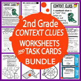 Context Clues Worksheets & Task Card Bundle – 2nd Grade Co