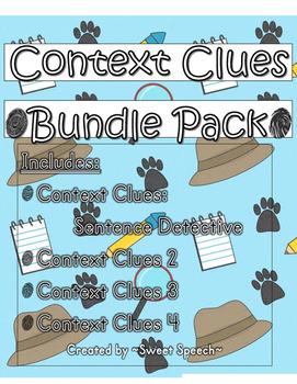 Context Clues Sentence Detective Bundle Pack