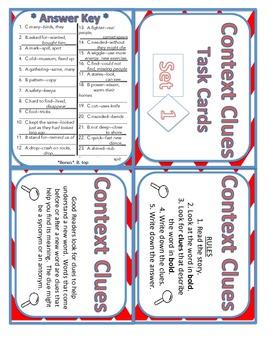 Context Clues Set 1 Task Cards