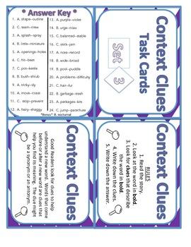Context Clues Set 3 Task Cards