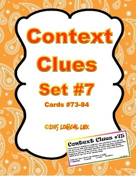 Context Clues Set #7 (seventh set)