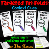 Context Clues Small Group Instruction: Four Tri-folds | PD