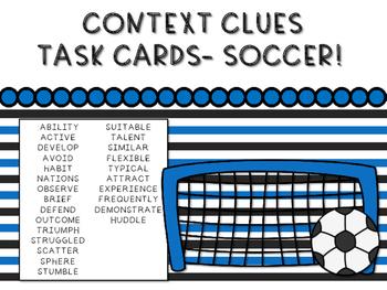 Context Clues - Soccer Theme Task Cards