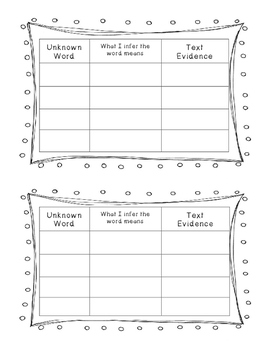 Context Clues Strategies and Graphic Organizer