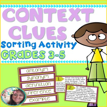 Context Clues Strategy Sorting Activity