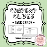 Context Clues Strategy Task Cards for Middle School Speech Therapy