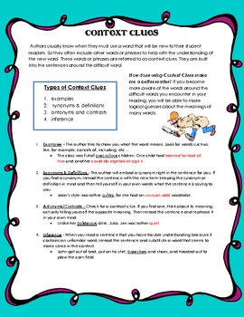 Context Clues Student Handout