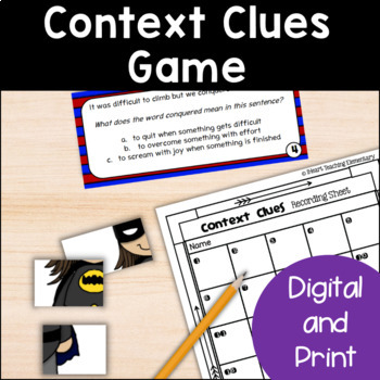 Context Clues Review Activity- Context Clues Superheroes