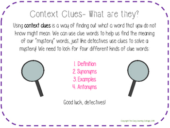 Context Clues- Synonym Clue Words