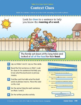 Context Clues (Take It to Your Seat Centers: Common Core Language)