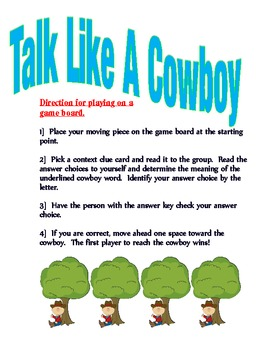 Context Clues-Talk Like A Cowboy
