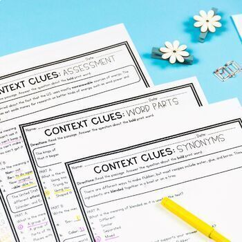 Context Clues Targeted Practice - 2nd and 3rd Grade