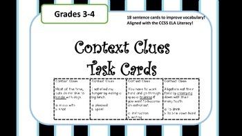 Context Clues Task Card!