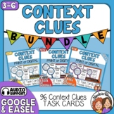 Context Clues Task Card Bundle: 96 cards for Print or Ease