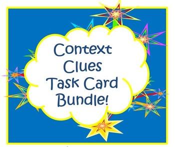 Context Clues Task Card Bundle, Thanksgiving, Christmas, P