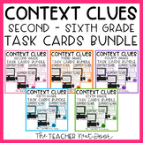 Context Clues Task Cards Bundle for 2nd -6th Grade | Context Clues Centers