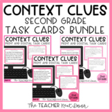 Context Clues Task Card Bundle for 2nd Grade Print and Digital Distance Learning