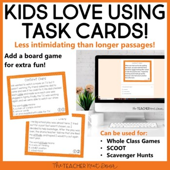 Context Clues Task Card Bundle for 3rd Grade