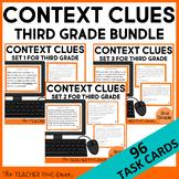 Context Clues Task Card Bundle for 3rd Grade | Context Clues Centers