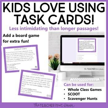 Context Clues Task Card Bundle for 4th Grade