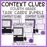 Context Clues Task Card Bundle 4th Grade Print and Digital