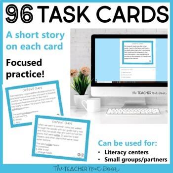 Context Clues Task Card Bundle for 5th Grade | Context Clues Center
