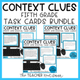 Context Clues Task Card Bundle for 5th Grade Print and Digital Distance Learning