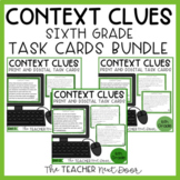 Context Clues Task Card Bundle for 6th Grade Print and Dig