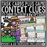Context Clues Task Cards 3rd Grade, 4th Grade, & 5th Grade