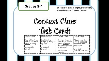 Context Clues Task Cards!