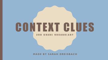 Context Clues Task Cards 3rd grade