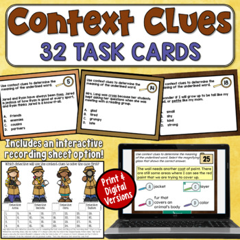 Context Clues Task Cards (2nd and 3rd grade)