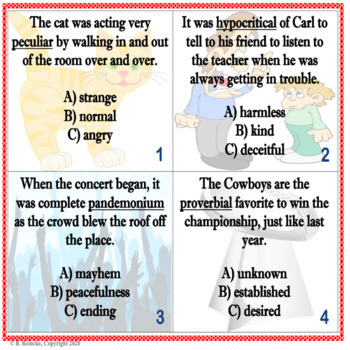 Context Clues Task Cards (32!!!)