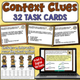 Context Clues Task Cards with Digital Option (4th, 5th, and 6th grade)