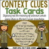 Context Clues Task Cards: 32 DIFFERENTIATED Task Cards + G