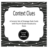 Context Clues Task Cards Freebie