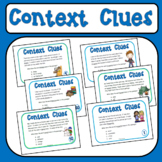 Context Clues Task Cards - 40 Cards for 2nd and 3rd Grade