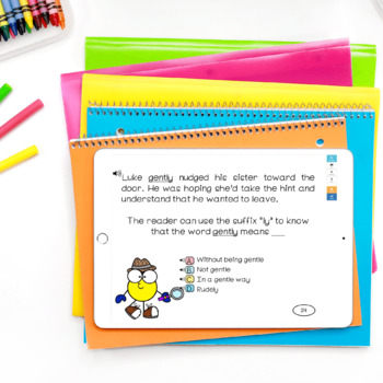 Context Clues Task Cards with Digital BOOM Cards Option | Distance Learning