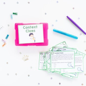 Context Clues Task Cards - 4th & 5th Grade - RI.4.4 & RI.5.4