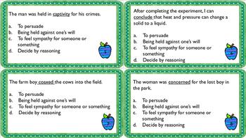 Context Clues Task Cards 4th grade