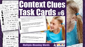 Context Clues Task Cards Bundle 2