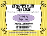 Context Clues Task Cards (32 Vocabulary Cards): Common Cor