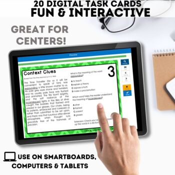 Context Clues Task Cards - Digital Boom Cards