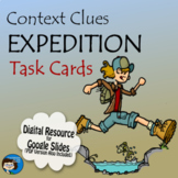 Context Clues Task Cards Digital Resource - Distance Learning