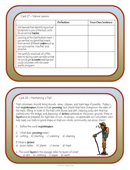 Context Clues Task Cards - Expedition