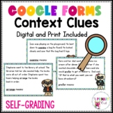Context Clues Task Cards Google Forms and Print