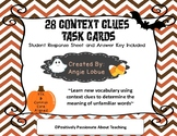 Context Clues Task Cards - Halloween (Common Core and TEK