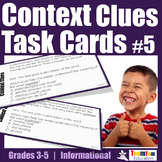 Context Clues Task Cards Informational Texts (STAAR)