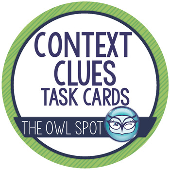 Context Clues Task Cards - Intermediate Level!
